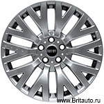 Kahn RS Cosworth 9 x R20 Hyper Silver. Колесный диск Land Rover Discovery 4, 5, Range Rover 2010 - 2019 и Range Rover Sport 2010 - 2019