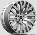 Kahn RS Cosworth 9 x R20 Hyper Silver. Колесный диск Land Rover Discovery 5, Range Rover 2010 - 2020, Range Rover Sport 2010 - 2020 и New Defender 2020